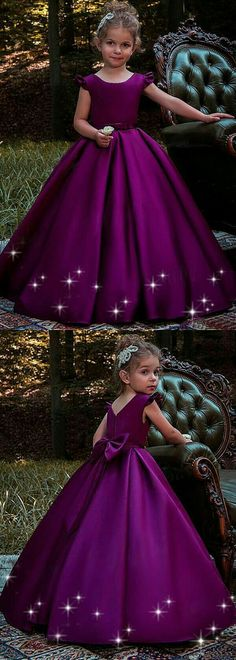Satin Floor-length Ball Gown Flower Girl Dresses With Belt, Shop plus-sized prom dresses for curvy figures and plus-size party dresses. Ball gowns for prom in plus sizes and short plus-sized prom dresses for