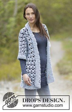Giacca uncinetto in lana cardigan donna motivo di Lallallero