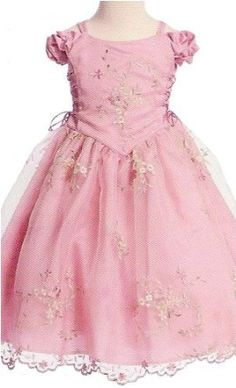Amazon.com: Easter Dress - Dusty Rose w/ Embroidery (Size 4): Clothing