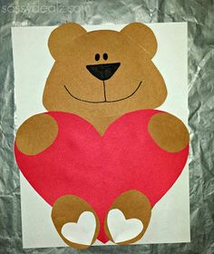 'I Love You Beary Much' Valentine Bear Craft For Kids - Crafty Morning by MyLittleCornerOfTheWorld Valentines Bricolage, Bear Valentines, Valentine's Day Crafts For Kids, Valentine Crafts For Kids, Valentine Ideas, Cadeau St Valentin, Cute I Love You, Bear Crafts, Ladybug Crafts