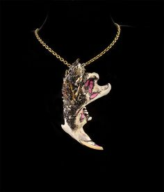 Bone Jewelry  Jawbone Necklace  Bone Necklace  by DeadHappy