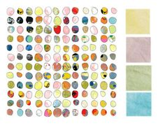 Jan Weiss Dot World Two inspires these colours on The Welcome Mat's Dyeing To Know Column