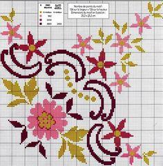 شغل ابره NEEDLE CRAFTS: مفرش سفره ايتامين جديد - new x-stitch pattern