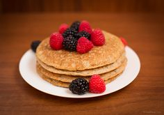 Paleo Pancakes using Fonio Flour  Ingredients 3 teaspoons baking powder ½ teaspoon salt 1 ¼cup Farafena's Fonio Flour 2 tablespoons ground chia seeds 1 teaspoon vanilla extract 1 egg 1 tablespoon of maple syrup (or