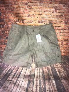 0fff3f00ecd133 Ladies NWT LL Bean Favorite Fit Sz.8 Army Green Cargo Shorts Tencel