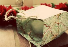 What a great way to reuse newspapers and maps.