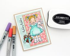 Creations Galore Blog   Easter card with Penny Black stamps + Copic markers