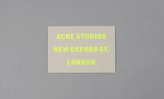 Fashion week A/W 2012 invitations – Acne's thick beige card featured a graphic, debossed fluorescent font on one side. Stationery Design, Invitation Design, Invitations, Typography Design, Branding Design, Lettering, Corporate Branding, Paper Design, Book Design