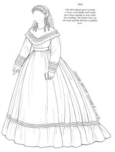 485 best coloring pages fashion images in 2019 coloring books 1980 Clothing Styles paper dolls of historical bridal gowns