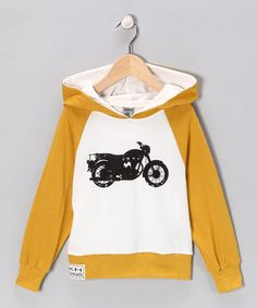Mustard Moto Raglan Hoodie - Infant, Toddler & Boys