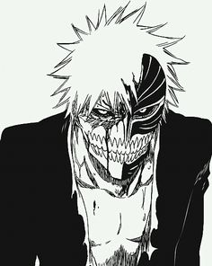 Find images and videos about beautiful, anime and manga on We Heart It - the app to get lost in what you love. Ichigo Et Rukia, Ichigo Manga, Bleach Manga, Bleach Characters, Anime Characters, Ichigo Hollow Mask, Bleach Ichigo Hollow, Manga Art, Anime Art