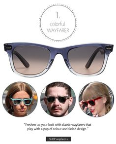 Colorful Wayfarer | Summer 2013 Sunglasses Trends: Make a Statement | The Look | Coastal.com | #theLOOK
