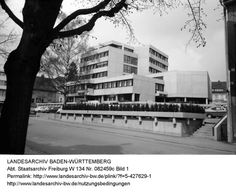 A small town with a big city hall:  Robert Ackermann: New Town Hall (Neues Rathaus) St. Georgen Germany 19661972  Photos: Landesarchiv Baden Württemberg / Abt. Staatsarchiv Freiburg (CC BY 3.0 DE) /  Fred Hugel