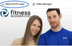 "FitnessBlender.com just hit 300 million views on YouTube. That's 300 million ""Workout Complete"" screens earned. Nicely done FB Family, we're so proud of you! Thanks to everyone who works out with us - we can't wait to see 1 billion. Find over 450 free workout videos, & be the first to know about our new releases by subscribing @ https://www.youtube.com/user/FitnessBlender"