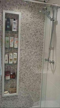 Nicho para banheiros para quem não pode embutir