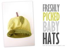Make baby hats from old t-shirts