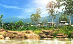 Best Hotel in Champasak Laos - The River Resort Laos Travel, Asia Travel, Travel Deals, Best Hotels, Trip Advisor, Golf Courses, Eco Friendly, Laos Destinations, River