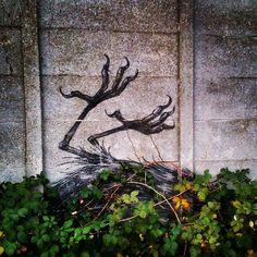 by ferdinandfeys: Old #ROA #bird slowy consumed by nature - #streetart #graffiti #Gent #Belgium #visitgent #urbex
