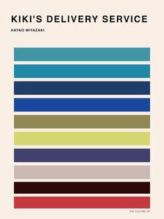 Color palettes of Hayao Miyazaki Movies by Hyo Taek Kim