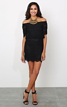 Odessa Off The Shoulder Lace Dress - New Arrivals