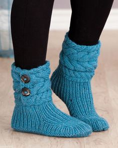 Free Knitting Pattern for Cable Cuffed Boots - Super-cozy slippers knit with rib. : Free Knitting Pattern for Cable Cuffed Boots – Super-cozy slippers knit with ribbing and cuffs. 3 sizes: S (M, L). Designed by Lena Skvagerson. Loom Knitting, Knitting Socks, Knitting Stitches, Knitting Patterns Free, Knit Patterns, Free Knitting, Knitting With Hands, Knit Slippers Free Pattern, Knitted Slippers