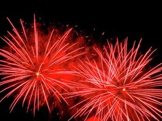 Red Fireworks 2 by Cynthia Woods