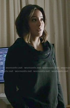 Daisy's shawl collar sweatshirt on Agents of SHIELD.  Outfit Details: http://wornontv.net/52218/ #AgentsofSHIELD