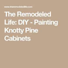 The Remodeled Life: DIY - Painting Knotty Pine Cabinets Knotty Pine Cabinets, Knotty Pine Walls, Swedish Design, Scandinavian Design, Wood Paneling Makeover, Home Remodeling Diy, Diy Painting, Tutorials, Life