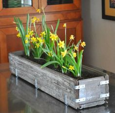 Planter from reclaimed wood