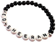 Want to get some letter beads like this and make band bracelets :D home-made band merch