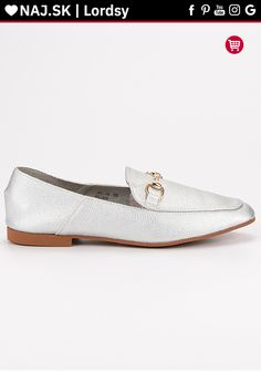Strieborné poltopánky lordsy Comer Lord, Loafers, Flats, Shoes, Fashion, Travel Shoes, Loafers & Slip Ons, Zapatos, Moda