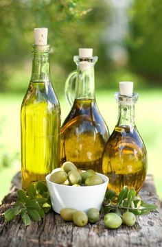 *Olive oil to shine stainless steel. Also good makeup remover...