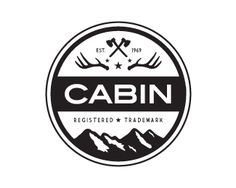 CABIN by wiking - black and white badge logo design - logopond.com