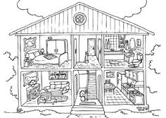 Free Printable House Coloring Pages For Kids House colouring pages Free coloring pages Coloring pages for kids