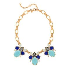 J Crew Color drop necklace