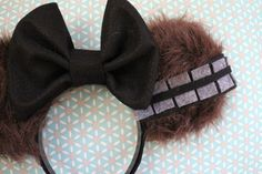 Chewbacca STAR WARS Mouse Ear Headband w/ Black Bow by ModernMouseBoutique on Etsy https://www.etsy.com/listing/217904339/chewbacca-star-wars-mouse-ear-headband-w