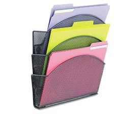 Onyx Magnetic Mesh Panel Accessories Triple File Pocket 13 x 4 13 x *** Read more reviews of the product by visiting the link on the image.
