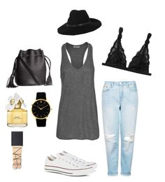 Every day look: Polyvore featuring polyvore, fashion, style, T By Alexander Wang, Topshop, Monki, Converse, H&M, Larsson & Jennings, By Malene Birger, NARS Cosmetics