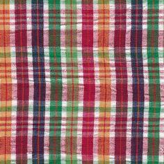 5112 £5.95 stone fabrics - indian madras check seersucker