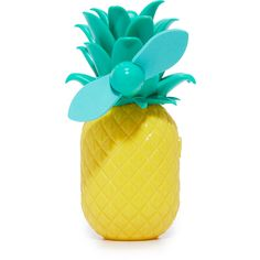 Sunnylife Pineapple Beach Fan ($17) ❤ liked on Polyvore featuring home, home decor, fans, battery operated fan, battery fan, pineapple home accessories, pineapple home decor and battery powered fan