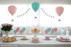 A Hot Air Balloon themed Baby Shower | next to nicx