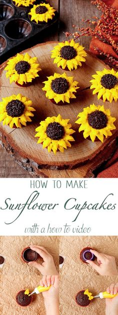 how-to-make-pretty-and-simple-sunflower-cupcakes-with-a-how-to-video-the-bearfoot-baker