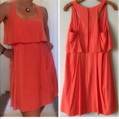 """Orange tier dress Jessica Simpson, size 10, true to size, sips up the back, 35"""" in length. Smoke free and pet free home, excellent condition, no flaws. Jessica Simpson Dresses Mini"""