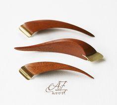 """Oblique pen holder """"Fish"""" - Ergonomic Pen Holder - Universal flange by AZwoodUA on Etsy"""