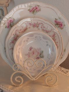 gorgeous Teacup, Saucer and Plate