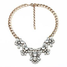 Butterfly Clear Jeweled Crystal Statement por ElenaBellJewelry