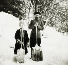 "An Imperial Christmas - Part II: {06/25} ""Tsar Nicholas II and Tsarevich Alexei. """
