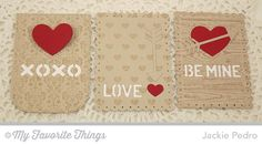 Damask Background, Tiny Hearts Background, Wood Plank Background, Tag Builder Blueprints 3 Die-namics - Jackie Pedro #mftstamps