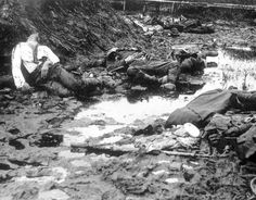 WWI; German casualties at Ypres.