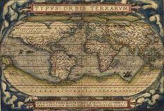 Mapa elaborado após os descobrimentos portugueses .